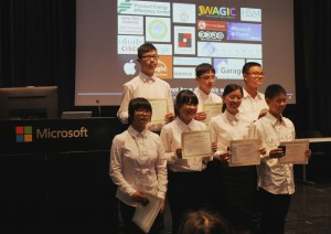 The Aug 15 competition's winning team