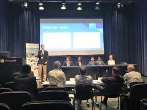 Atmotube, Atmoband Camp BizSmart Team on stage at Microsoft during competition